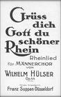 Grüß dich Gott du schöner Rhein - Chorpartitur