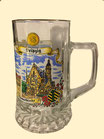 Sternbodenseidel/ Bierglas/ Bierhumpen 0,5 l, 3 Motive, Goldrand
