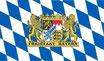Bayerische Rauten Fahne / Flagge, mit Wappen