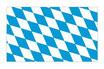 Bayerische Rauten Fahne / Flagge, ohne Wappen