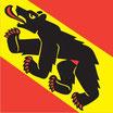 Bern  Fahne mit eingesetzem Wappen
