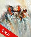 Abstraction Orange Blue M 1 / SOLD