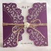 Lasercut Hochzeitskarte #B0134