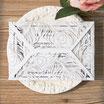 Lasercut Hochzeitskarte #B0037*