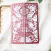 Lasercut Hochzeitskarte #B0174