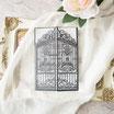 Lasercut Hochzeitskarte #B0172