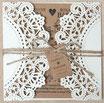 Lasercut Hochzeitskarte #B0067