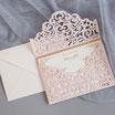 Lasercut Hochzeitskarte #C0189