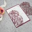 Lasercut Hochzeitskarte #B0177