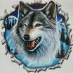 Wolf in Blau