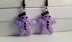 Pastel Goth Gingerbread Girl Earrings