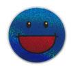 スマイリー ステッカー ラメタイプ(SMILEY sticker) 6cm×6cm type M 【タイ雑貨 Thailand Sticker】