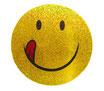 スマイリー ステッカー ラメタイプ(SMILEY sticker) 6cm×6cm type E  【タイ雑貨 Thailand Sticker】