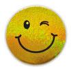 スマイリー ステッカー ラメタイプ(SMILEY sticker) 6cm×6cm type L 【タイ雑貨 Thailand Sticker】