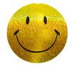 スマイリー ステッカー ラメタイプ(SMILEY sticker) 6cm×6cm type D  【タイ雑貨 Thailand Sticker】