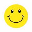 スマイリー ステッカー (SMILEY sticker typeB ) 6cm×6cm  1枚 【タイ雑貨 Thailand Sticker】