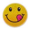 【SSサイズ】 スマイリー ステッカー ゴールド ラメタイプ (SMILEY sticker / Gold) 3.6cm × 3.6cm SSサイズ typeC   【タイ雑貨 Thailand Sticker】