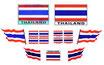 【コンプリートセット】タイ王国 国旗 ステッカー(THAILAND National Flag Sticker ) お得な9枚セット【タイ雑貨 Thailand Sticker】
