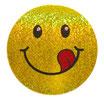 スマイリー ステッカー ラメタイプ(SMILEY sticker) 6cm×6cm type B  【タイ雑貨 Thailand Sticker】