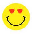 スマイリー ステッカー ジャンボサイズ (JUMBO size  SMILEY sticker) 10cm×10cm  Lサイズ type D  【タイ雑貨 Thailand Sticker】