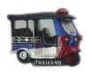 タイ王国 TUKTUK(トゥクトゥク) 3D 立体 ハンドメイド マグネット Blue & Red  type C (ブルー・青 × レッド・赤 Cタイプ) 【タイ雑貨 Thailand 3D Hand made Magnet】