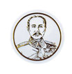 タイ 王室 ステッカー チュラーロンコーン国王(ラーマ5世)肖像 ゴールド丸型SSサイズ  1枚 【タイ雑貨 Thailand Sticker】