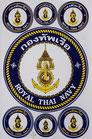 【ミリタリー / 軍隊 グッズ 】タイ王国 海軍 ステッカー(ROYAL THAI NAVY Sticker 7P mix A) L サイズ 【タイ雑貨 Thailand Sticker】