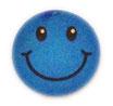 【SSサイズ】 スマイリー ステッカー ブルー ラメタイプ (SMILEY sticker / Blue) 3.6cm × 3.6cm SSサイズ typeA   【タイ雑貨 Thailand Sticker】