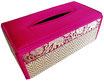 タイシルク アジアン ティッシュ ボックス ケース パッションピンク 【Elephant design, Passion Pink】