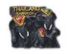 タイ王国 エレファント(親子象・ぞう) タイランドバンコク 3D 立体 ハンドメイド マグネット type A (親子ゾウ Aタイプ) 【タイ雑貨 Thailand 3D Hand made Magnet】