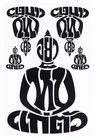 BUDDHA 仏像 坐禅 タイ文字 タイ語 アジアン ステッカー ブラック L サイズ 1枚 【タイ雑貨 Thailand Sticker】