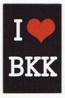 タイ王国 I Love BKK(バンコク・Bangkok) マグネット type E(縦タイプ・ブラック) 1枚 【タイ雑貨 Thailand Magnet】