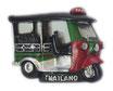 タイ王国 TUKTUK(トゥクトゥク) 3D 立体 ハンドメイド マグネット Green & Red  type D (グリーン・緑色 × レッド・赤 Dタイプ) 【タイ雑貨 Thailand 3D Hand made Magnet】