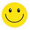 スマイリー ステッカー ジャンボサイズ (JUMBO size  SMILEY sticker) 10cm×10cm  Lサイズ type A  【タイ雑貨 Thailand Sticker】