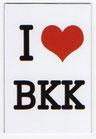 タイ王国 I Love BKK(バンコク・Bangkok) マグネット type D(縦タイプ・ホワイト) 1枚 【タイ雑貨 Thailand Magnet】