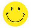 スマイリー ステッカー (SMILEY sticker) 6cm×6cm  1枚 【タイ雑貨 Thailand Sticker】