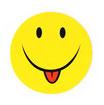 スマイリー ステッカー ジャンボサイズ (JUMBO size  SMILEY sticker) 10cm×10cm  Lサイズ type C  【タイ雑貨 Thailand Sticker】
