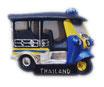 タイ王国 TUKTUK(トゥクトゥク) 3D 立体 ハンドメイド マグネット Yellow & Blue  type A (イエロー・黄色 × ブルー・青 Aタイプ) 【タイ雑貨 Thailand 3D Hand made Magnet】