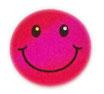 【SSサイズ】 スマイリー ステッカー ピンク ラメタイプ (SMILEY sticker / Pink) 3.6cm × 3.6cm SSサイズ typeA   【タイ雑貨 Thailand Sticker】