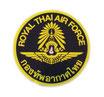 【ミリタリー / 軍隊 グッズ 】 タイ王国 空軍 紋章 エンブレムステッカー ブラック × ゴールド (ROYAL THAI AIR FORCE Sticker / Black × Gold  ラメタイプ) M サイズ type A 1枚 【タイ雑貨 Thailand Sticker】