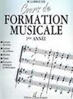 Cours de Formation Musicale LABROUSSE MARGUERITE Editions Henry Lemoine