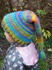 Bonnet lutin bleu multicolore à partir de 6 ans fait main l'Arche de jessica