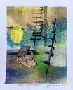 Fate appeared, 2016, tecnica mista, 10,5 x 13 cm