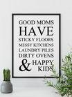 """Kunstdruck """"Good Moms - weiß"""""""