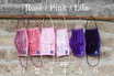 Mund-Nasenmaske - Rosé / Pink / Lila-