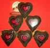 Valentins-Herzen Schokolade