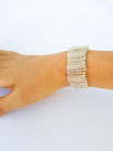 Perlenarmband transparent