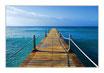 """Infrarot-Glasbildheizung """"Steg ins Meer"""", 450 Watt, 90x60cm"""