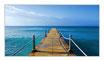 """Infrarot-Glasbildheizung """"Steg ins Meer"""", 700 Watt, 110x60cm"""