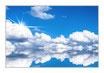 """Infrarot-Glasbildheizung """"Wolkenlandschaft"""" 450 Watt, 90x60cm"""